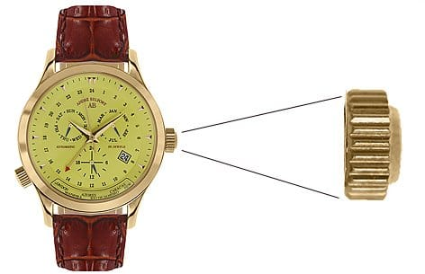 Automatic watch's crown